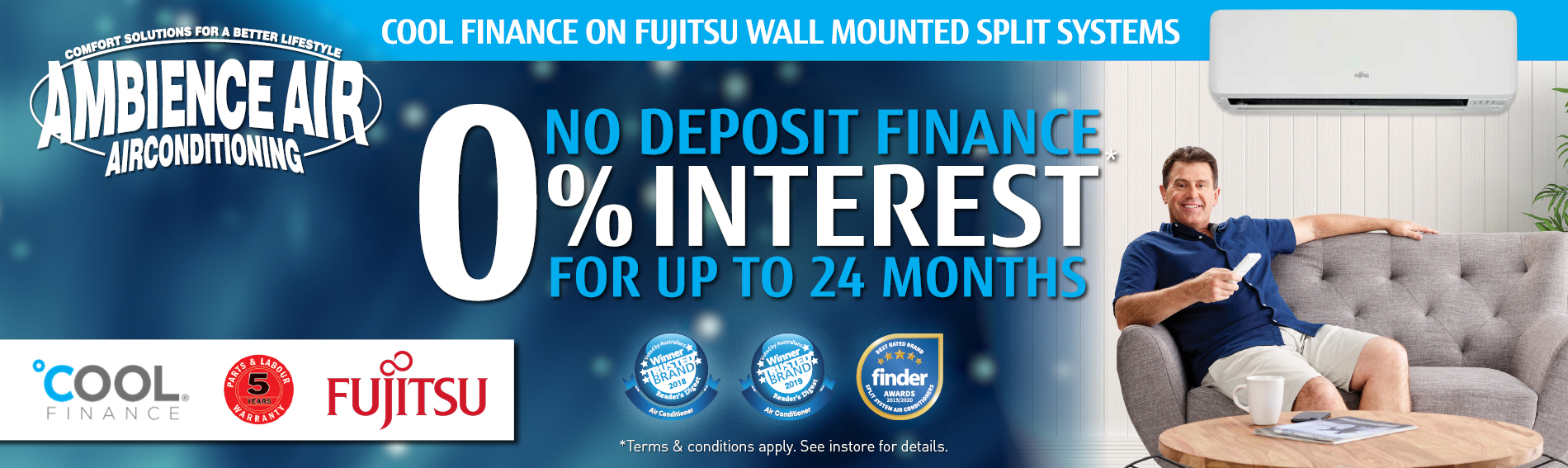 24 months interest free promotion on Fujitsu Split Systems January 2020 promotion - Ambience Air