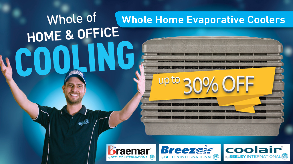 Image showing up to 30% Off Evap Coolers Offer